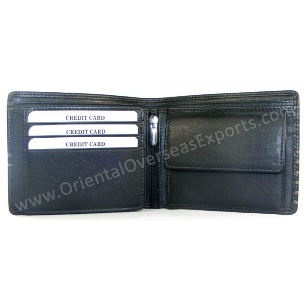 Engraved Unisex Leather Wallet