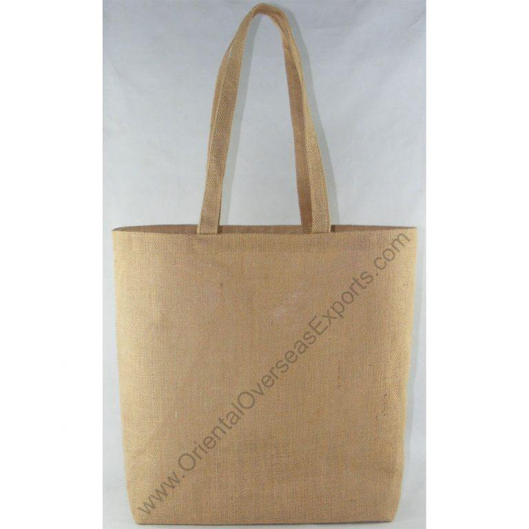 Un-laminated Jute Bag With Jute Shoulder Handles