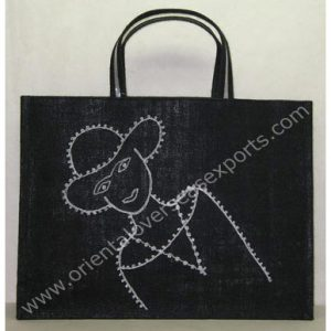 Jute Bag With Jute Handles along with hand embroidery work