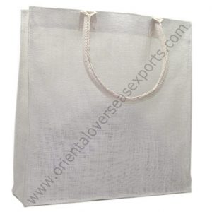 Jute Bag With Cotton Listing Handles
