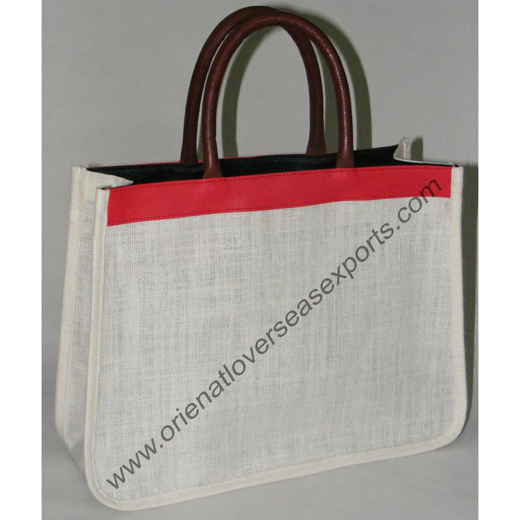 Jute Bag With DDDM Leather Handles