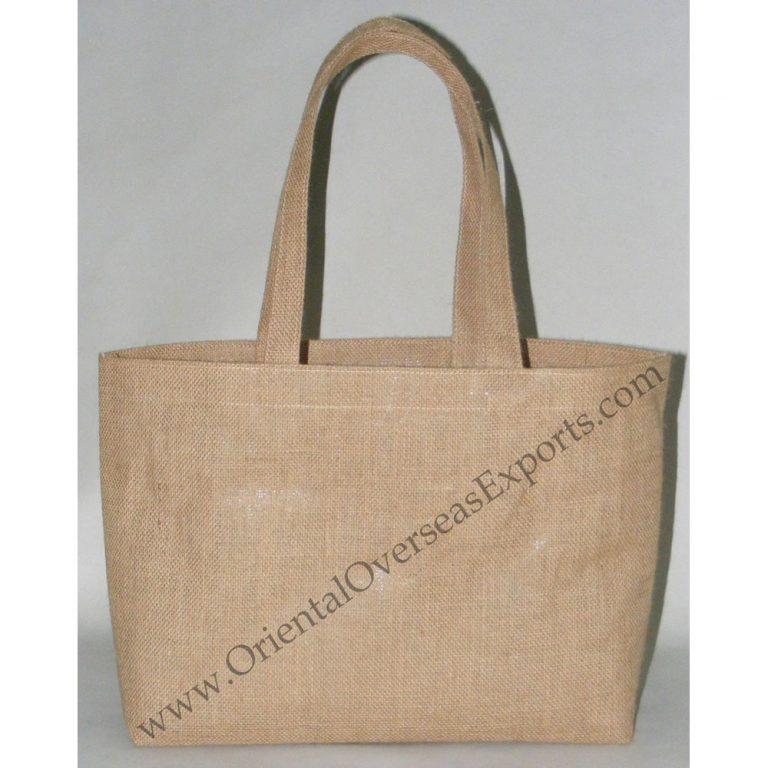 Laminated Jute Bag With Jute Handles
