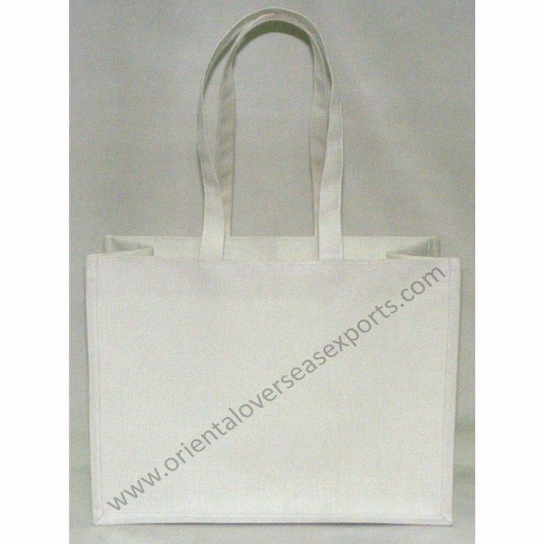 Dyed White Jute Bag
