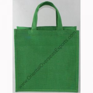 Dyed Jute Bag With Jute Handles,