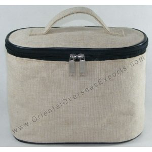 Jute Cotton Vanity Bag