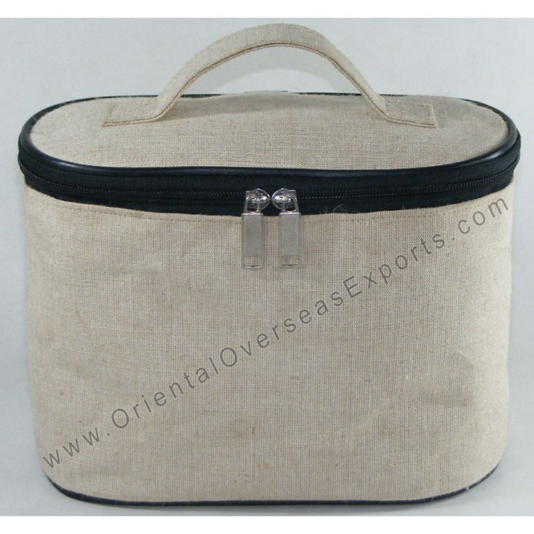 Jute Cotton Vanity Bag