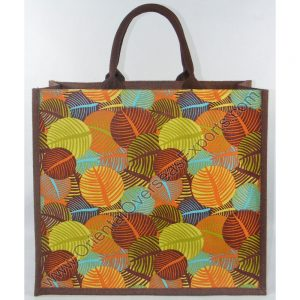 Elegant looking multi color printed jute