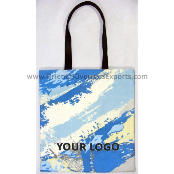 digitally printed canvas tote bag