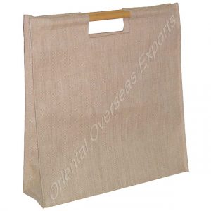bamboo handle jute bag