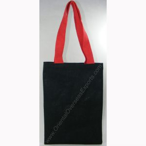 design and buy your own custom printed cheap jute tote bag with cotton handles online direct from factory based in india
