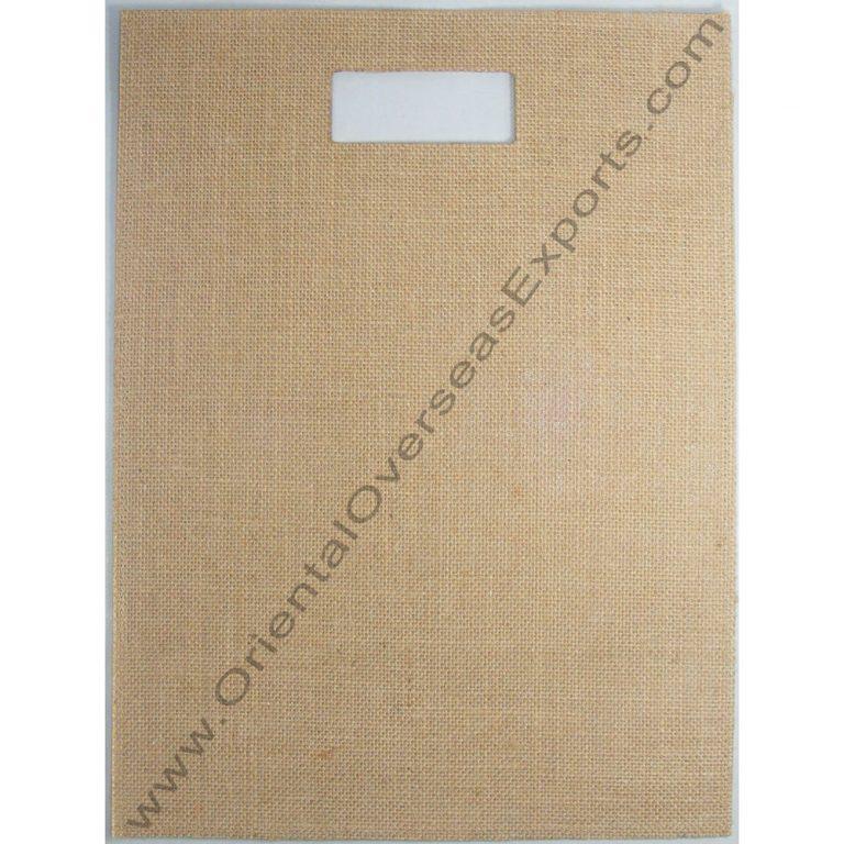 Cheap and durable laminated cut jute tote bag