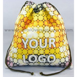 design and buy your own custom printed canvas drawstring pouches online direct from factory based in india