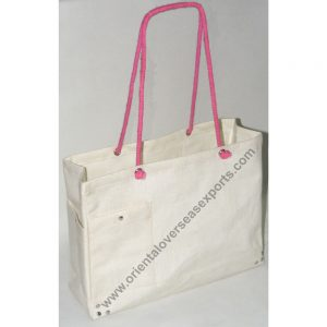 Jute Cotton Bag With Cotton Rope Handles and lamination inside