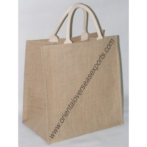 Jute Bag With Cotton Web Handles