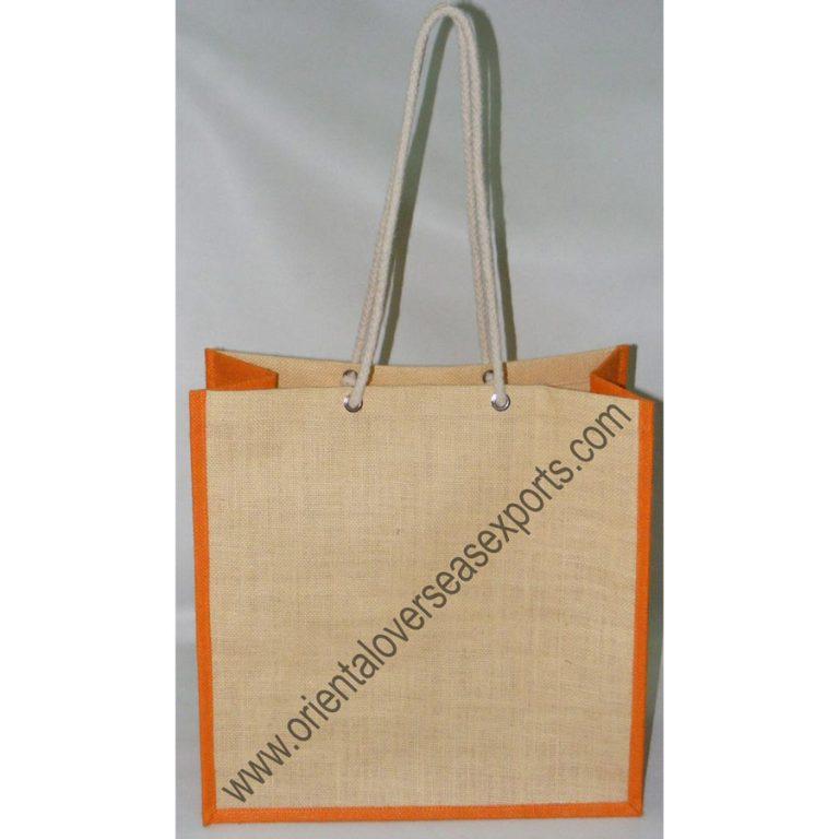 Custom Printed Jute Bag made from Laminated AZO free dyed Jute fabric