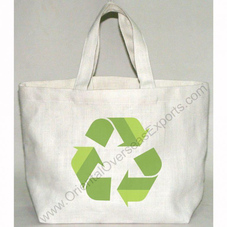 Un-laminated Jute Cotton Bag With Jute Handles