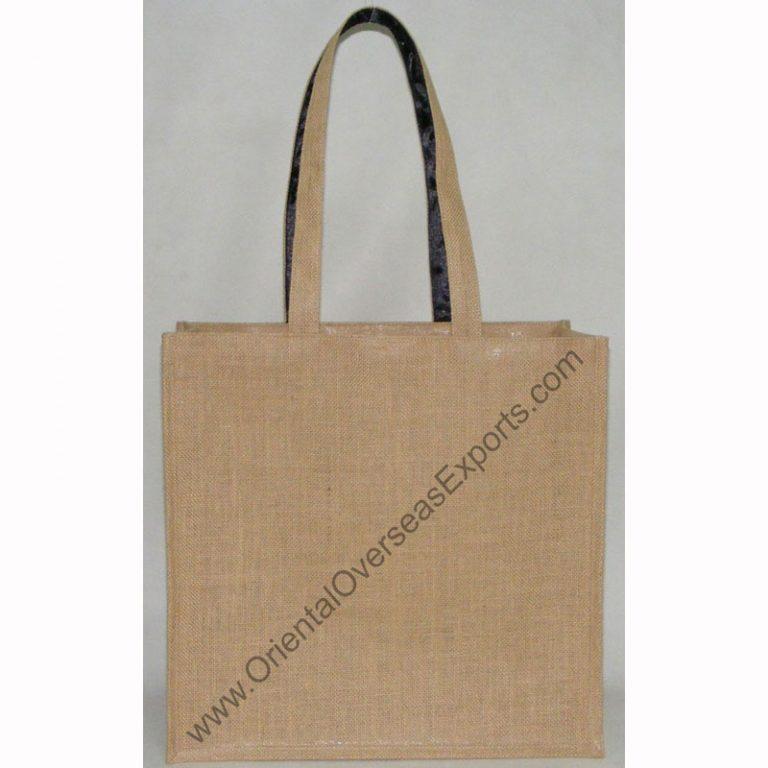 jute bag with jute handel