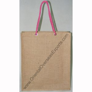 Jute Bag With Long Rope Handles