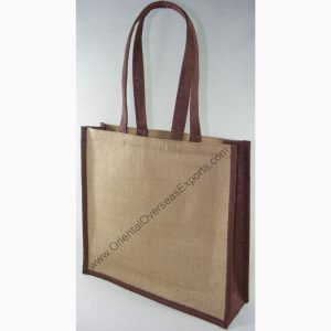 design and buy your own custom printed laminated jute carry bag with jute handles