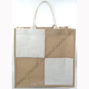 Jute Bag With Cotton Web Handles.
