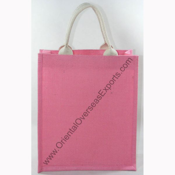 jute bag with web handle