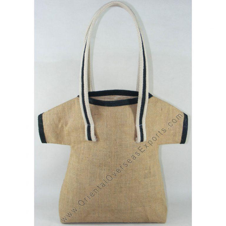 T-Shirt shaped Jute Bag With long Shoulder Handles