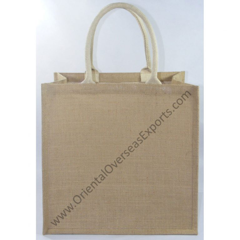 Natural Jute Bag With Soft Cotton Web Handles