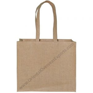 Natural jute bag with shoulder handles