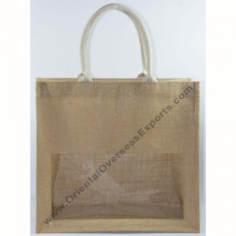 Elegant looking window jute bag