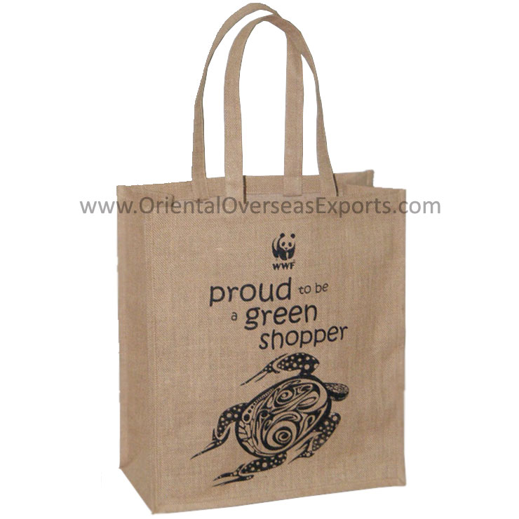 PersonalizedJute Bag with lamination inside