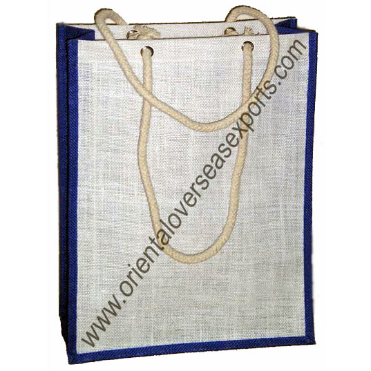 Jute Bag With Cotton Rope Handle
