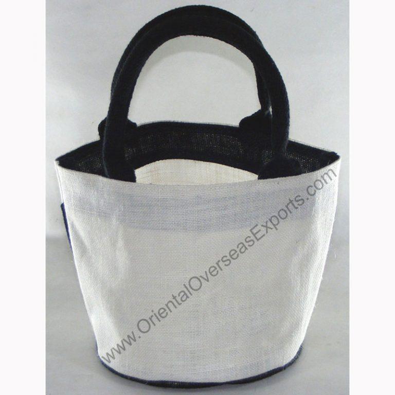 Small Round Bottom Jute Bag