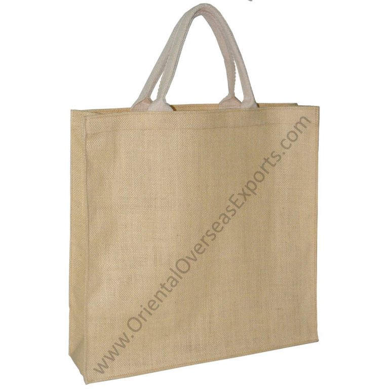 Jute Bag With Soft Cotton Handles