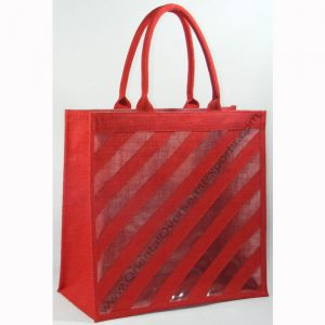 Elegant looking jute bag with window