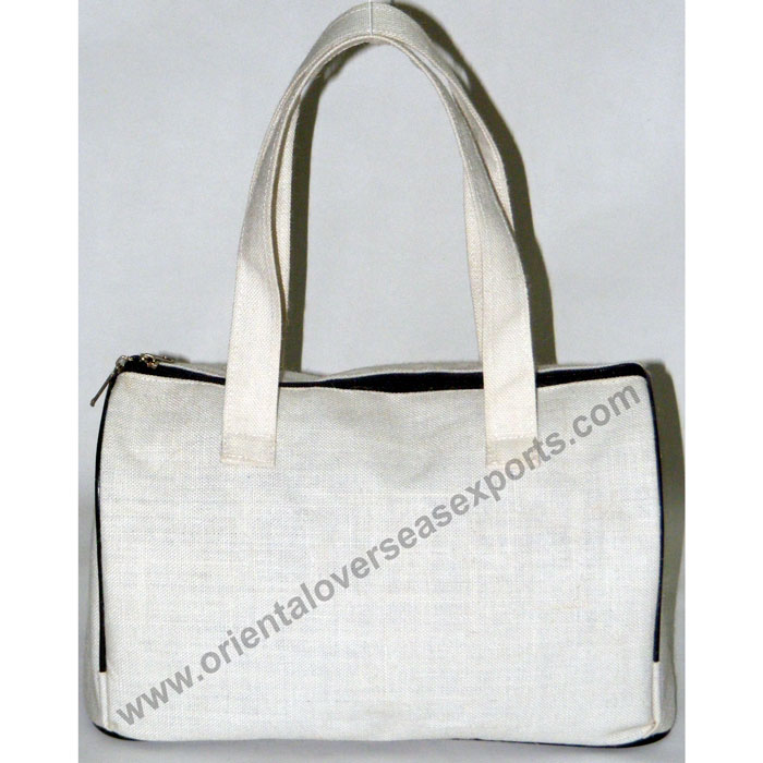 Custom Printed Juco Handbag With luxury Satin inside