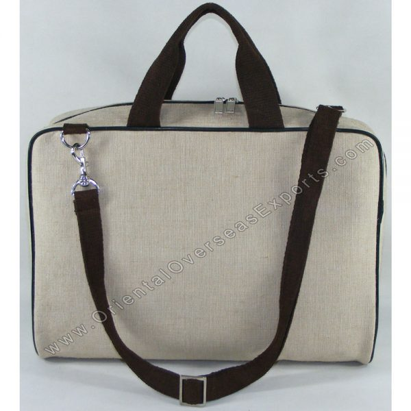 design and buy custom printed laminated jute cotton laptop bag with cotton handles online in bulk at factory prices