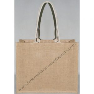 Jute Bag With Short Web Handles