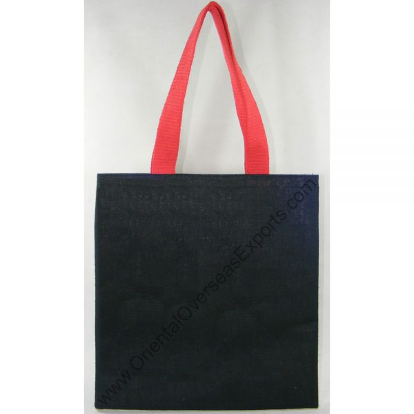 design and buy your own custom printed laminated jute tote bag with cotton web handles online