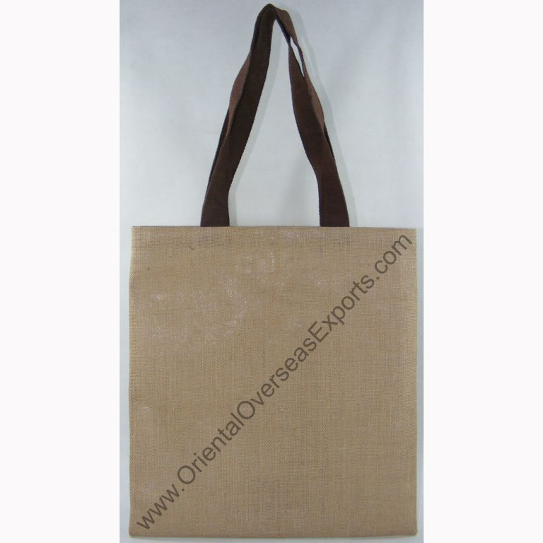 design and buy your own custom printed natural jute tote bag with cotton web handles online direct from factory based in india