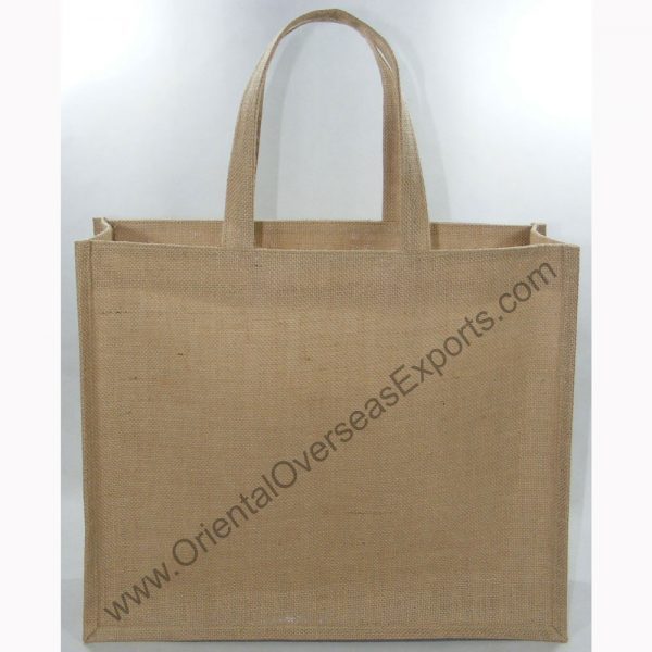 design and buy custom printed laminated jute bag with handles online in bulk at factory prices