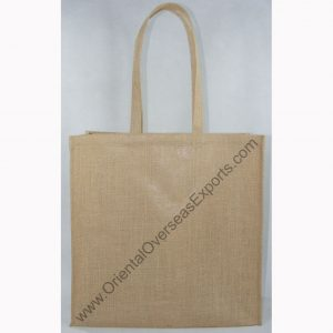 design and buy your own custom printed laminated large jute bag with handles online in bulk at factory prices