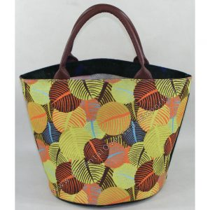 Jute Bag With Real Leather Handles