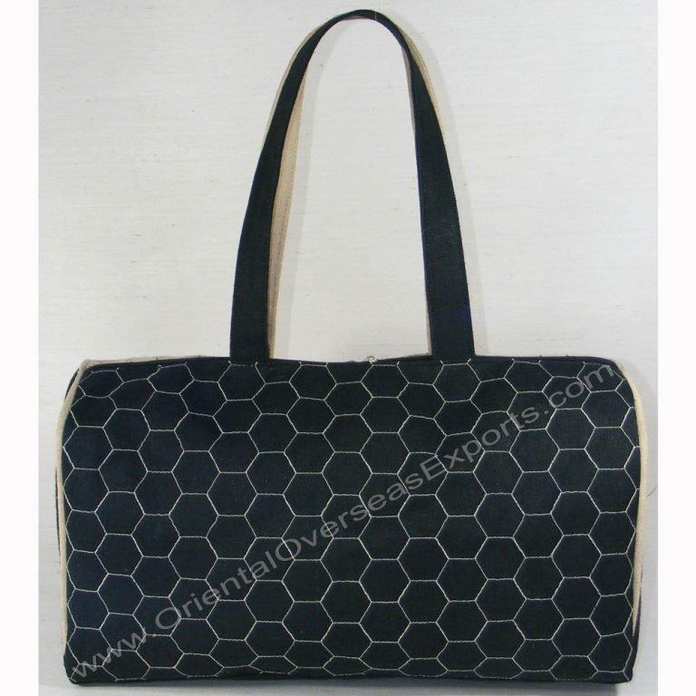 Elegant looking quilted jute bag