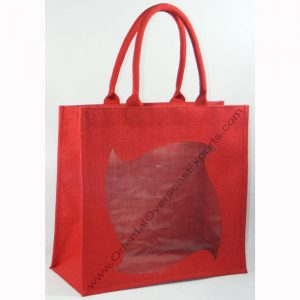 Elegant looking window jute bag
