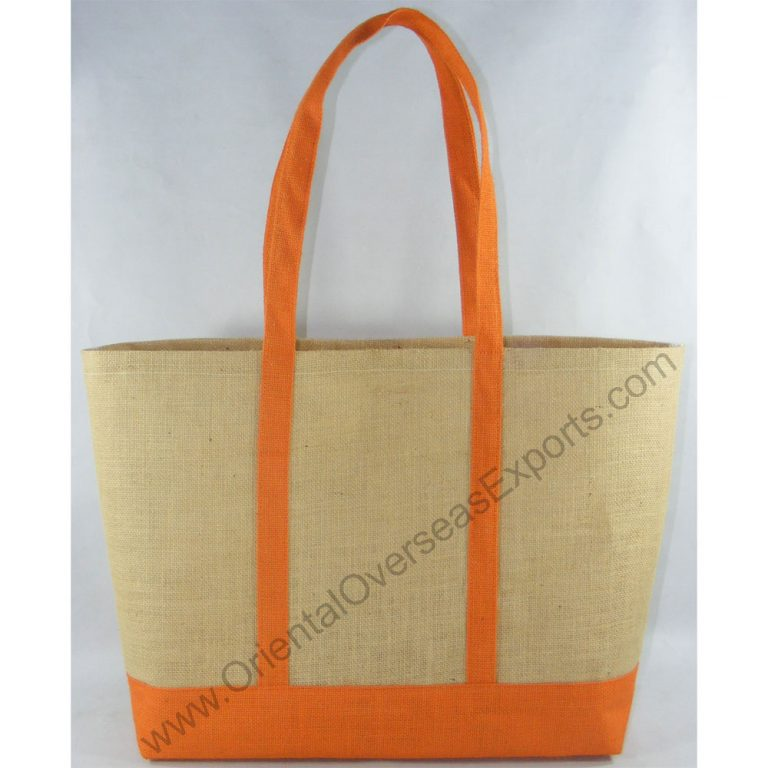 design and buy your own custom printed laminated jute beach bags online direct from factory based in india