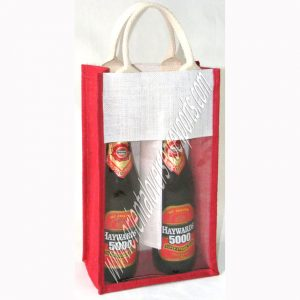 design and buy your own custom printed two bottle wine bags with cotton handles online at factory prices