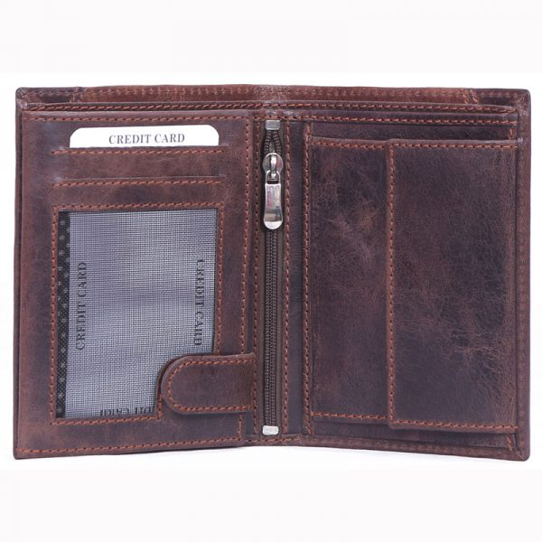 buy custom embossed crunch leather wallet with multiple card and currency slots along with coin pocket online at factory prices direct from manufacturers based in india