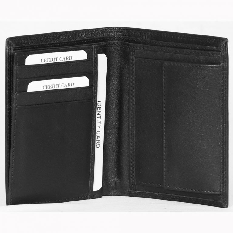Genuine Nappa Leather Credit Card Wallet # S5741P made fromCow Leather with multiple card and currency slots
