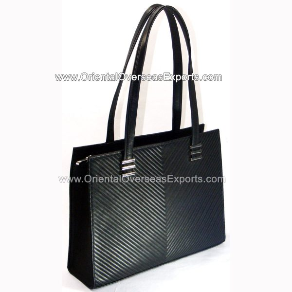 Buy Quilted Leather handbag with Zip-top closure, multiple pockets and luxury lining inside