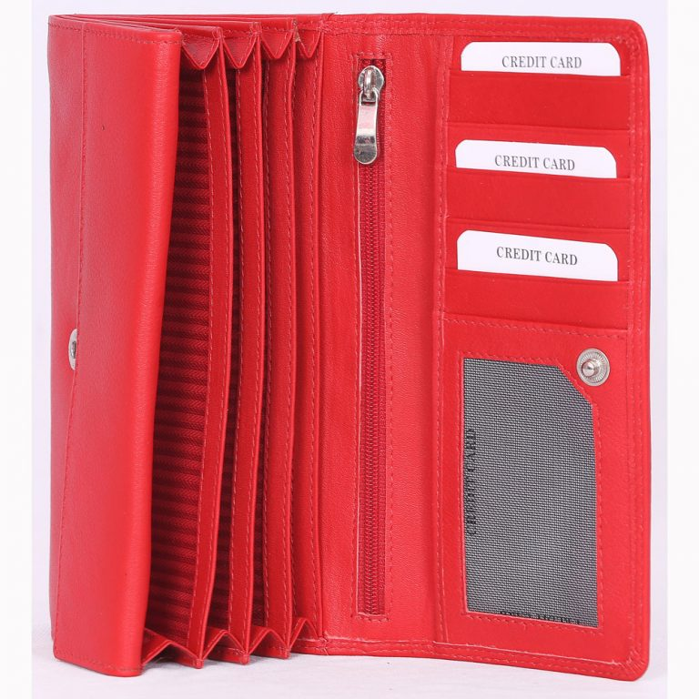 design and buy custom embossed nappa leather purse with multiple card and currency slots